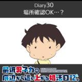 【Diary30】場所確認OK…?