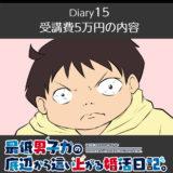 【Diary15】受講費5万の内容